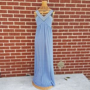Max Studio Blue  Maxi Dress Size XS